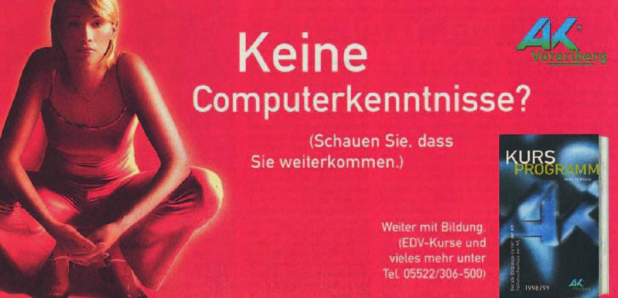 Inserat für Computerkurs © Archivscan