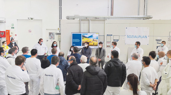 Betriebsversammlung bei Faurecia © Handout