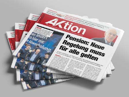Zeitschriftenstapel AKtion November 2019 © AK Vbg