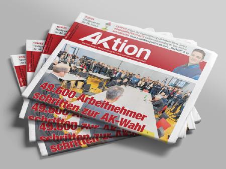 Zeitungsstapel AKtion März 2019 © AK Vbg