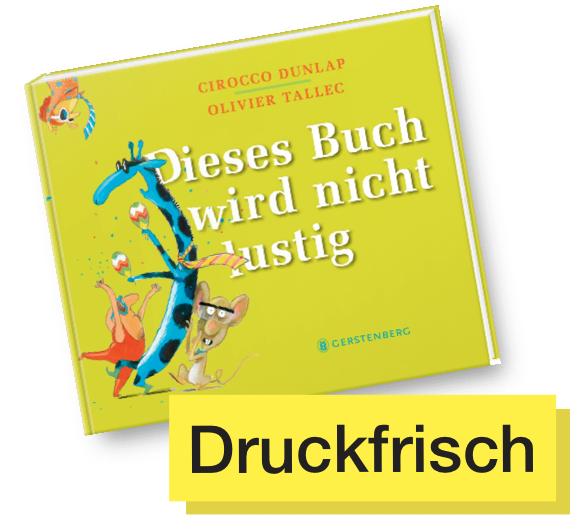 Buchcover Dieses Buch wird nicht lustig © Gerstenberg
