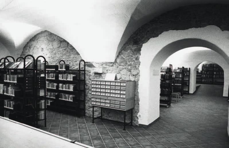 Kellerräumlichkeiten der AK-Bibliothek Feldkirch im Palais Liechtenstein. © Archivscan