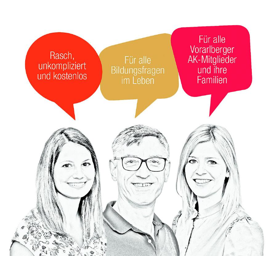 Die Bildungsberater von wieweiter.at © AK Vbg.