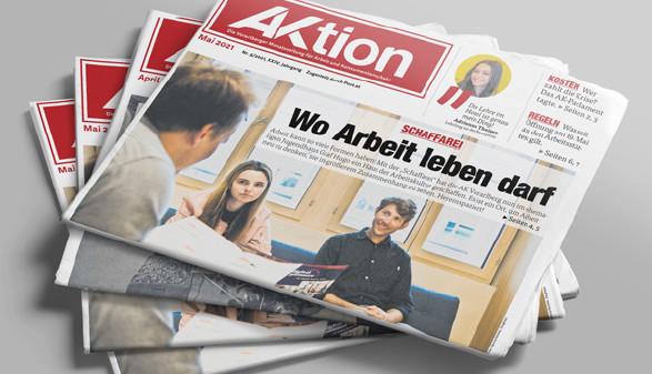 Zeitungsstapel der Ausgabe Mai 2021 © AK Vbg