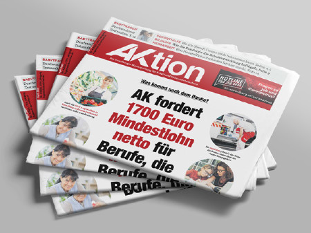 Zeitungsstapel Ausgabe AKtion April/Mai 2020 © AK Vbg.