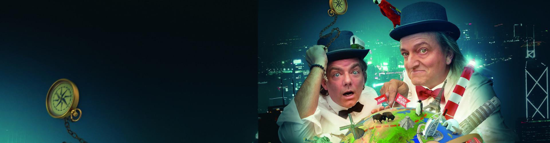 Die zwei Musik-Comedians Markus Linder und Hubert Trenkwalder nehmen Sie mit auf Welttournee  © Linder & Trenkwalder