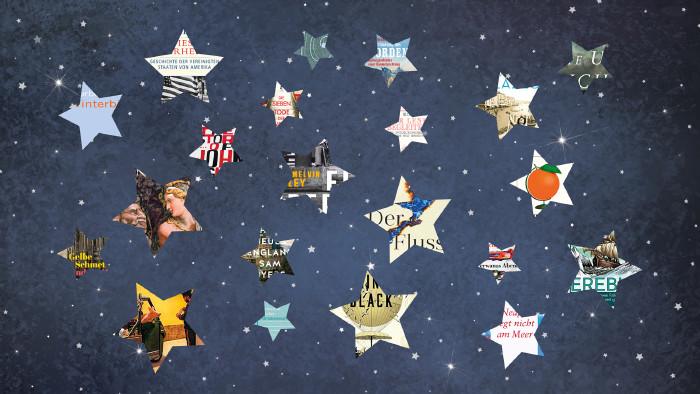 Sternenhimmel mit hinterlegten Buchtiteln © rvika (montiert Ch. Branner), stock.adobe.com