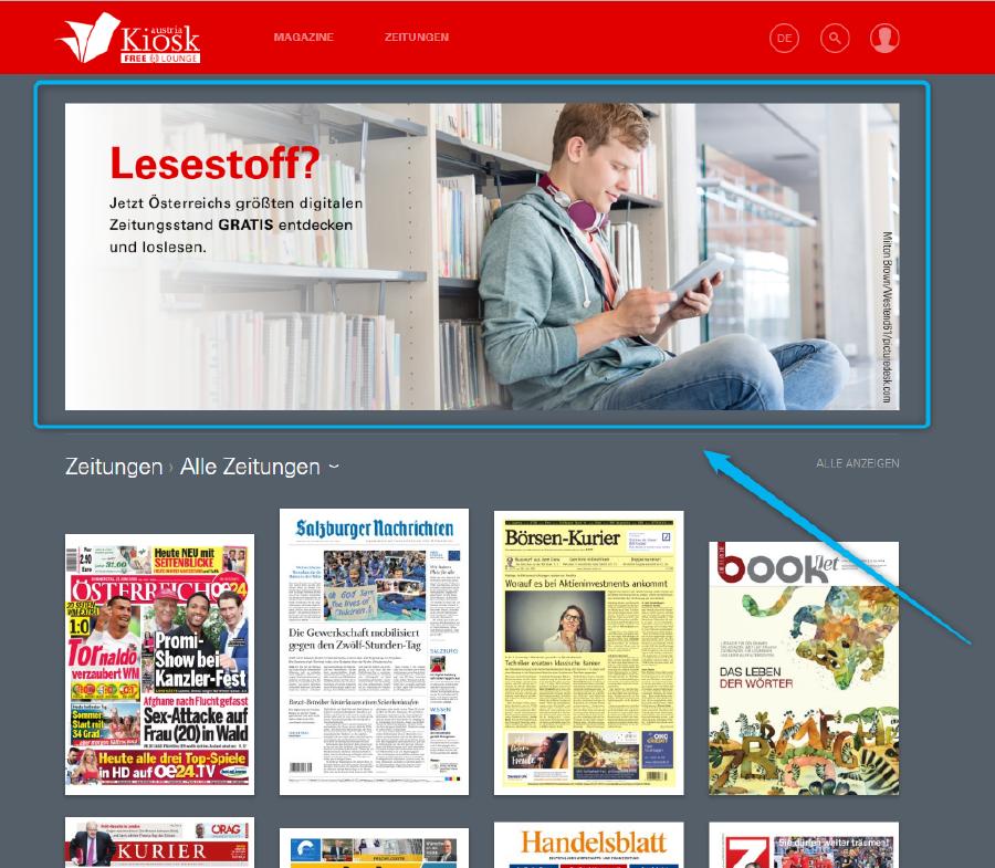Screenshot der Website © APA Austria Kiosk