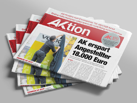 Zeitungsstapel AKtion März 2020 © AK Vbg