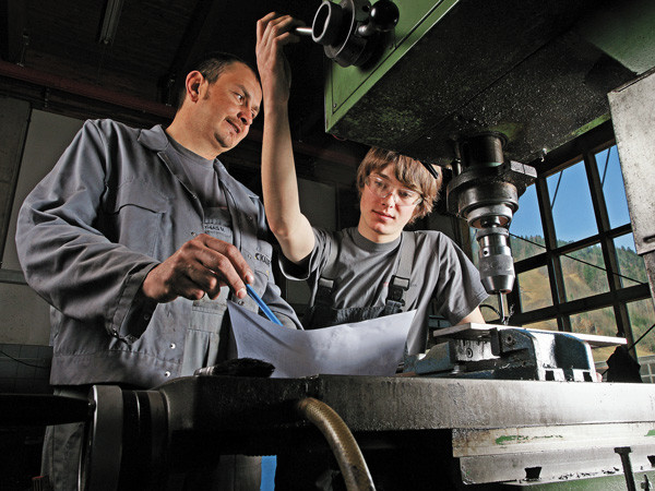 Mechanikerlehrling © Ludwig Berchtold, Fotograf