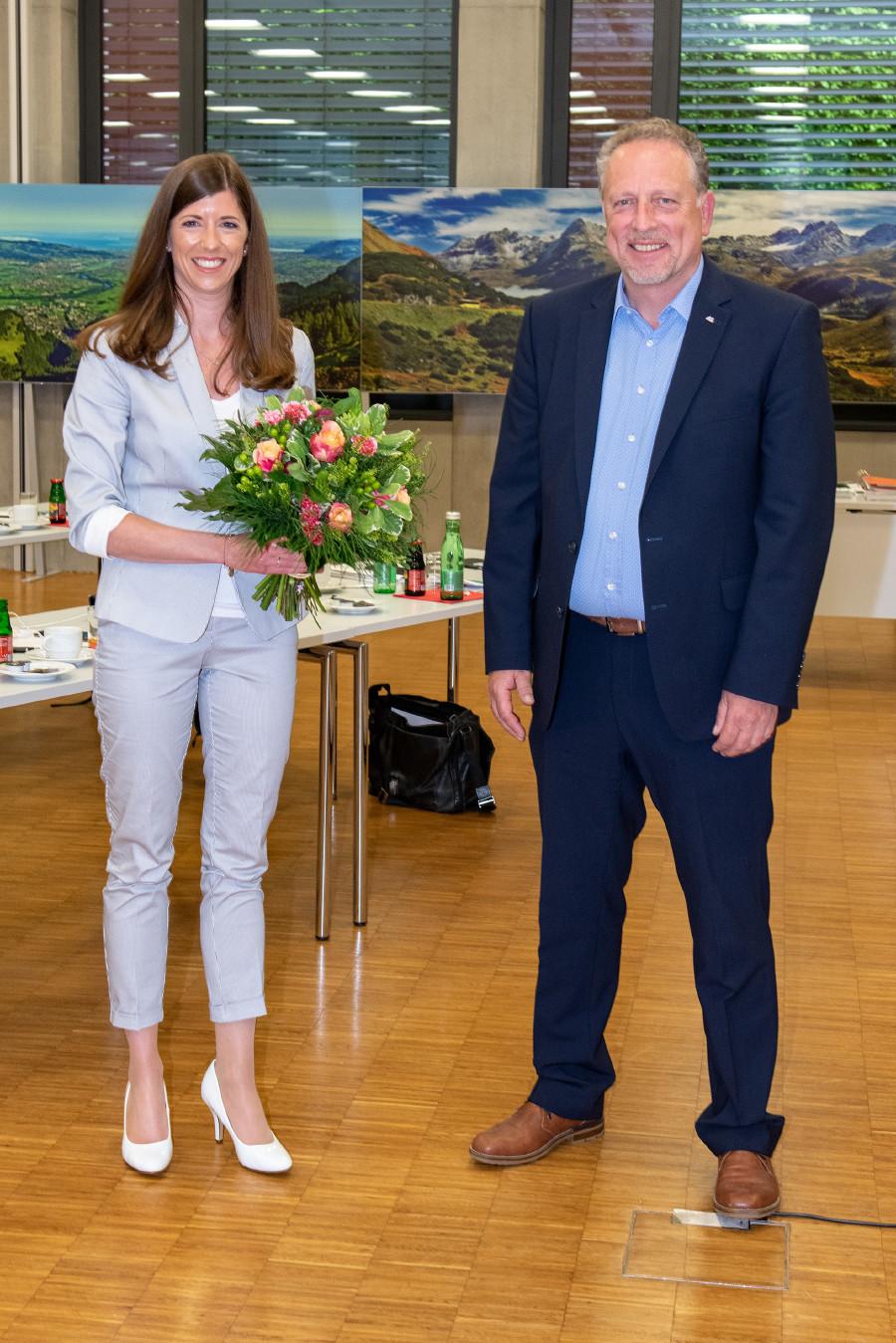 Vizepräs. Jessica Lutz und AK-Präsident Hubert Hämmerle © AKV