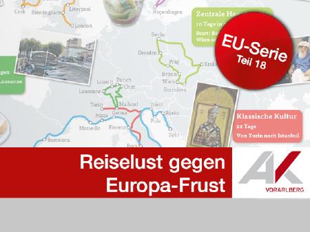 Mit Reiselust gegen Europa-Frust © Fotos: AK, Fotolia, Grafik: KEYSTONE Quelle: Interrail