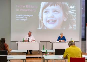 """Pressekonferenz """"Frühe Bildung"""" vom 21.6.2021 © AK Vorarlberg, Gorbach"""