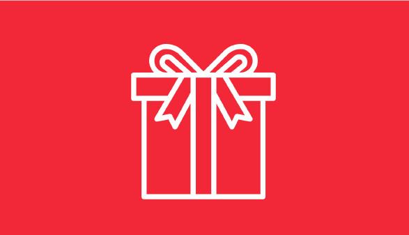 Geschenk-Symbol auf rotem Hintergrund © AK Vbg