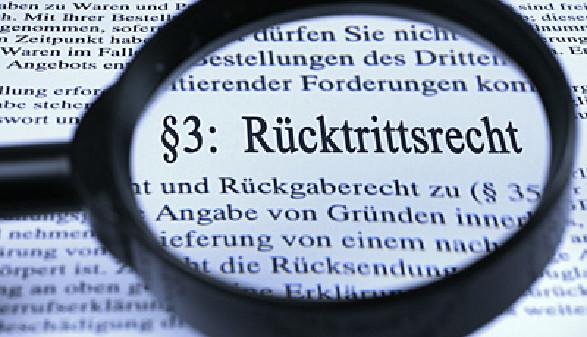 KONSUMENT, LUPE, RüCKTRITTSRECHT, RECHTE, © Erwin Wodicka, Bilderbox