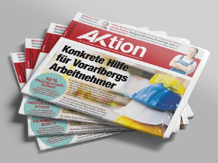 Zeitungsstapel AKtion Juni 2020 © AK Vbg