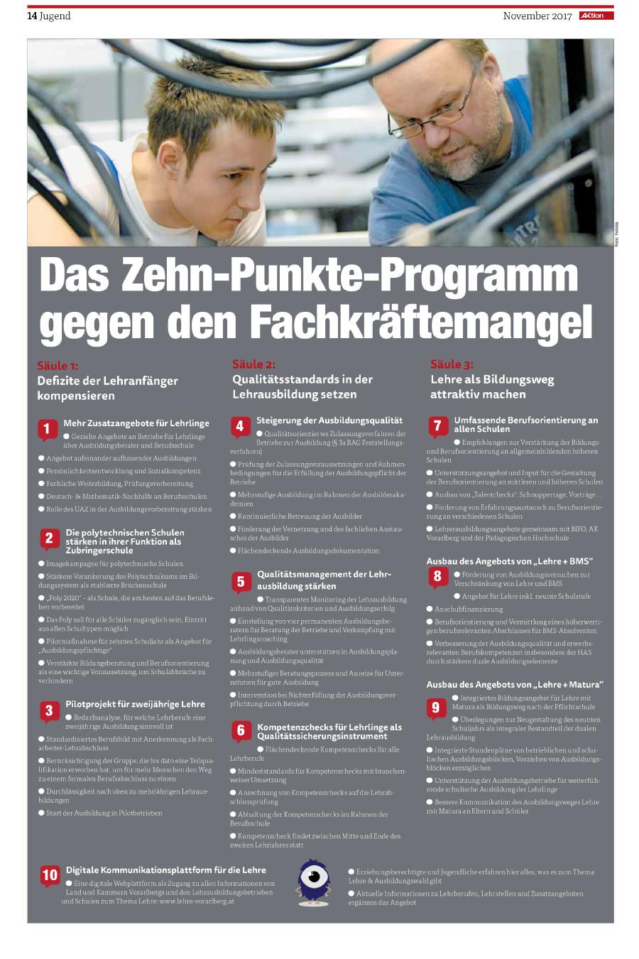 10 Punkte Programm © AK Vbg.