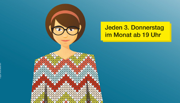 Grafik Dame mit Strickpullover © jpgon, stock.adobe.com