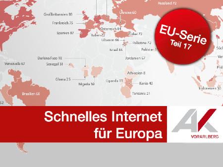 Schnelles Internet für Europa © Grafik: KEYSTONE, Quelle: Global Attitudes Survey, Frühling 2015