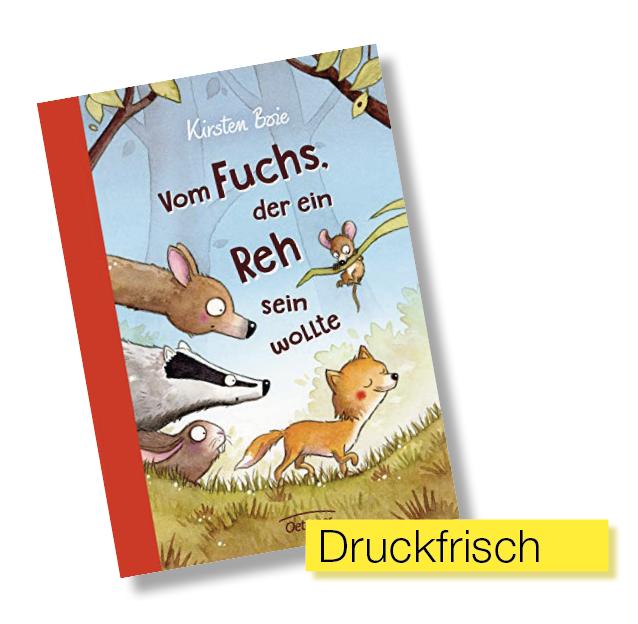 Buchcover Vom Fuchs der ein Reh sein wollte © Oetinger Verlag