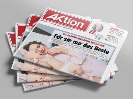 Zeitungsstapel AKtion Juni 2021 © AK