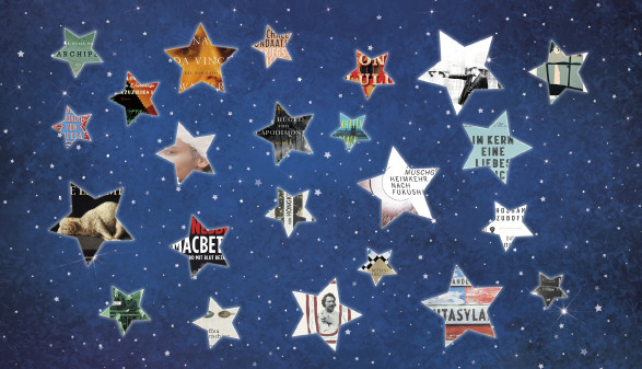 Sterne mit Buchtitel vor Sternenhimmel © rvika (montiert Ch. Branner), stock.adobe.com