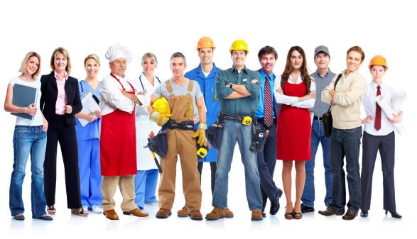 Menschen in verschiedenen Berufen © Kurhan, stock.adobe.com