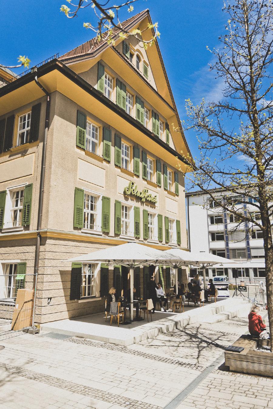 Die Schaffarei: Haus für Arbeitskultur, Gastro Kuche & Klub, neues Headquarter des Digital Campus Vorarlberg. © Patricia Keckeis