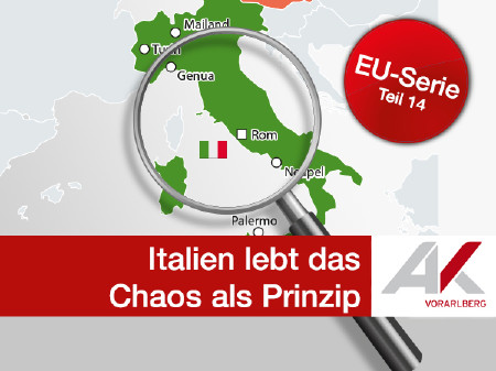 Italien lebt das Chaos als Prinzip © Quelle: APA, Deutsches Statistisches Bundesamt, Grafik & Fotos: KEYSTONE