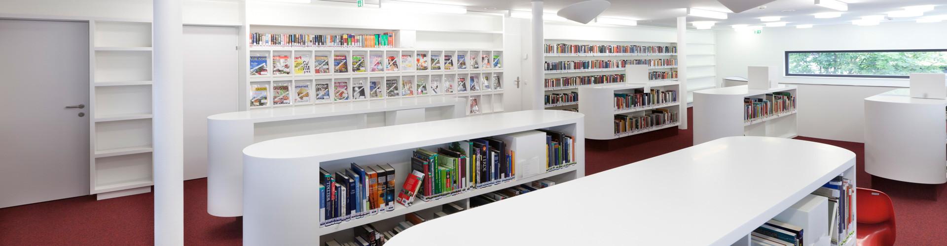 Blick in die AK-Bibliothek Bludenz © Dietmar Walser, Fotograf