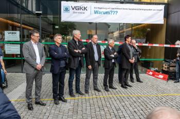 Demonstraten for der GKK in Dornbirn © AK Vbg.