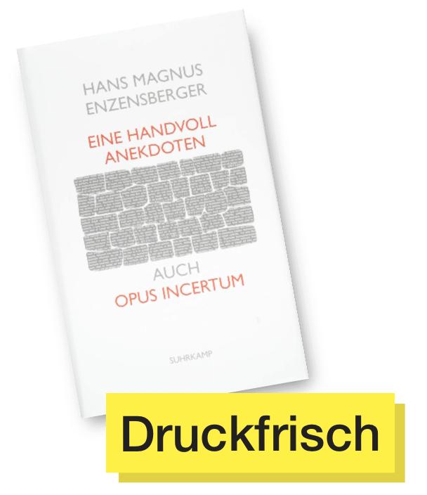 Buchcover Eine Handvoll Anekdoten © Suhrkamp Verlag