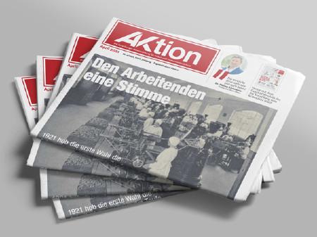Zeitungsstapel AKtion Ausgabe April 2021 © AK Vbg.