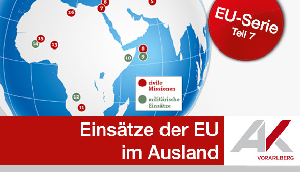 Einsätze der EU im Ausland © AK, AK