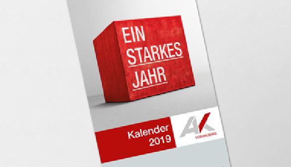 Arbeitszeitkalender Titelbild Ein starkes Jahr © AK Vbg.