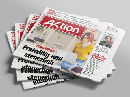 Zeitungsstapel AKtion Februar 2021 © AKVbg