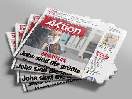 Zeitungsstapel AKtion Oktober 2020 © AK Vbg.