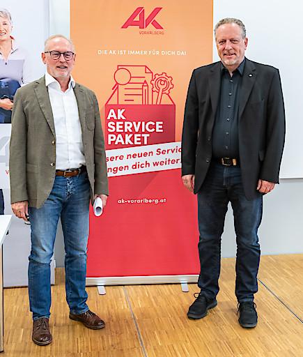AK-Direktor Rainer Keckeis und Präsident Hubert Hämmerle © AKV, Jürgen Gorbach