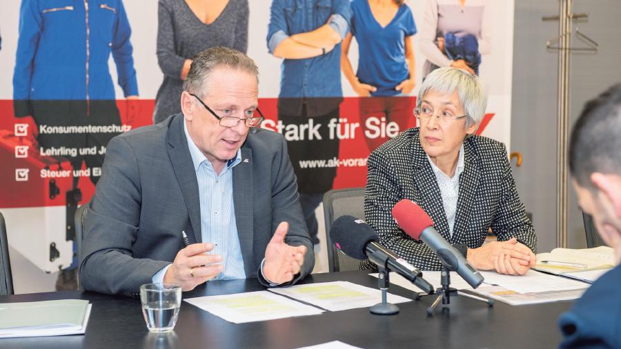AK-Präsident Hämmerle und Studienautorin Häfele © AK Vbg.