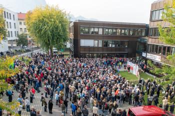 Demonstrationen vor der GKK © AK Vbg