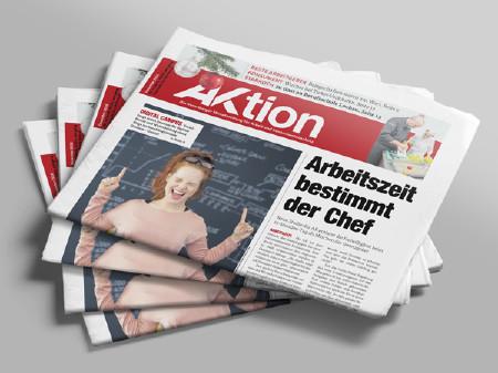 Stapel Zeitungen AKtion Dezember © AK Vbg