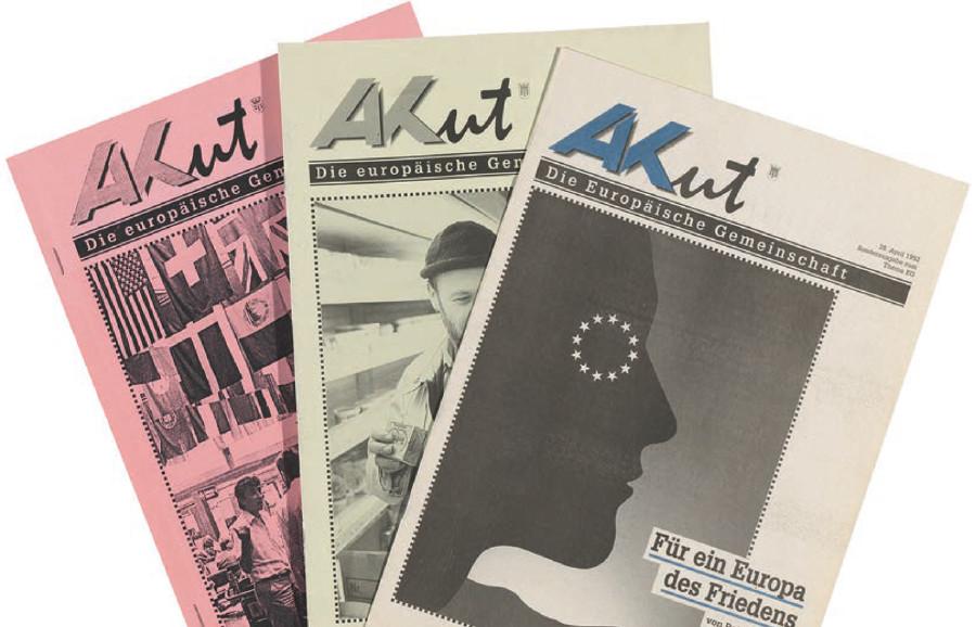 Die Arbeiterkammer informierte die Arbeitnehmer stets über die Chancen und Konsequenzen der EU-Mitgliedschaft. © AK Vbg.