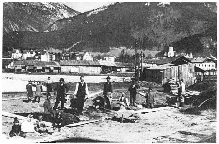 Bauarbeiten in der Mokrysiedlung © W. Sieß, Bludenz