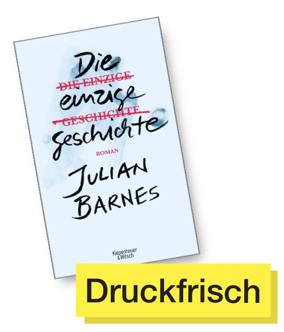 Buchcover Die einzige Geschichte © Kiepenheuer & Witsch
