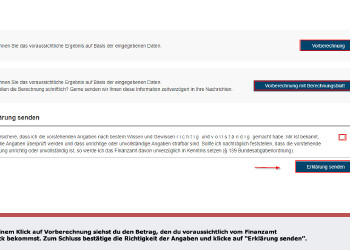 Screenshot FinanzOnline © Screenshot FinanzOnline