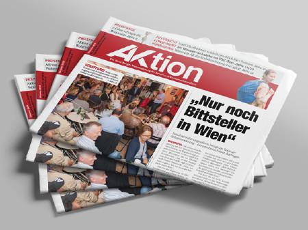 Zeitungsstapel AKtion Oktober 2018 © AK Vbg.