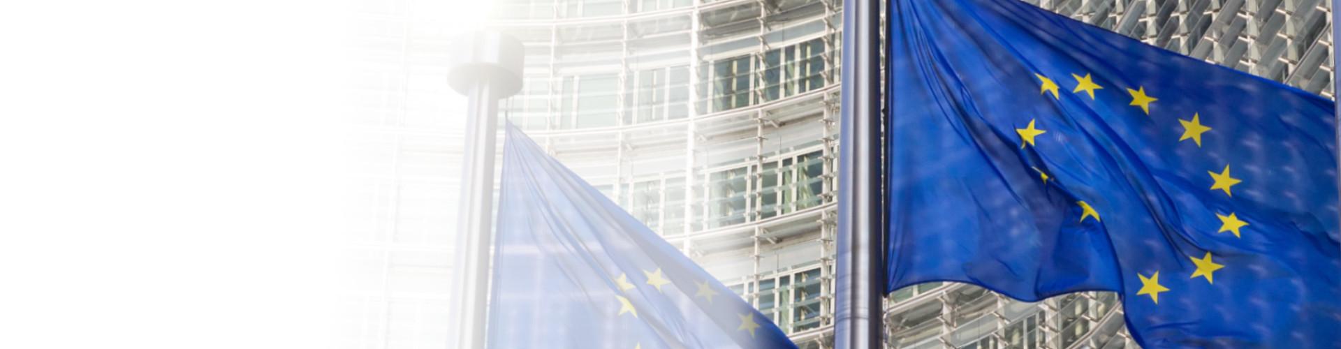 EU Flagge vor dem Kommissionsgebäude © VanderWolf Images, stock.adobe.com