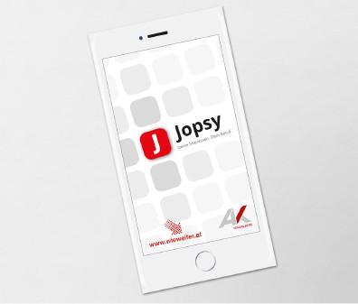 Jopsy - Folder zur App © AK Oberösterreich